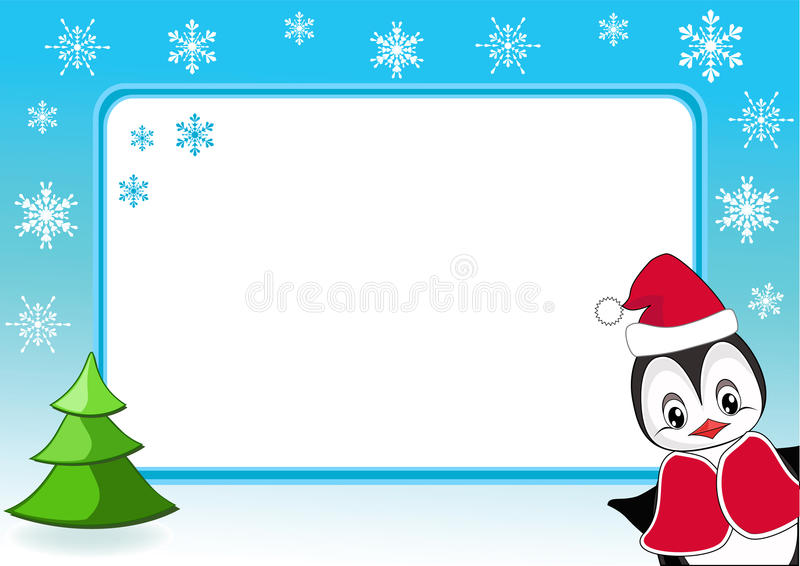 Download Baby Penguin. Christmas Photo Frame. Stock Vector - Image: 16546998