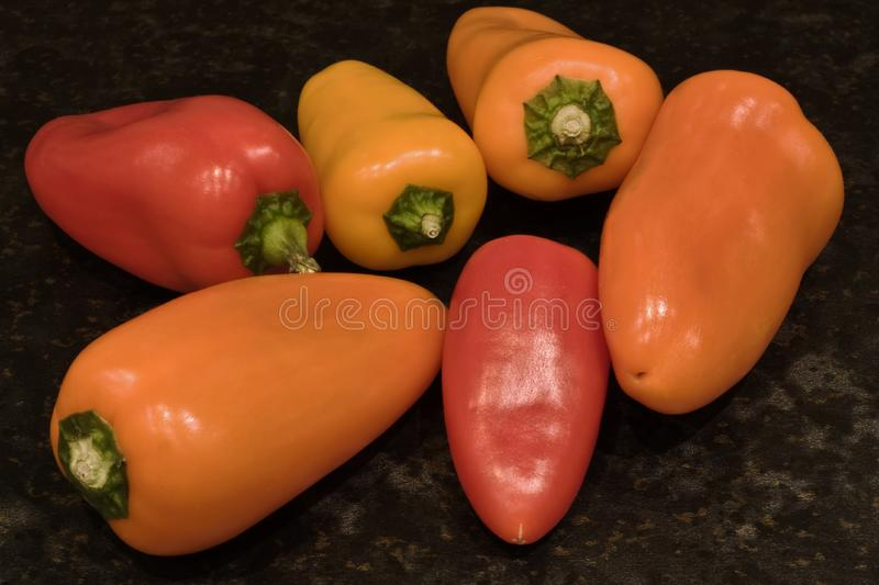 Baby peppers stock photo