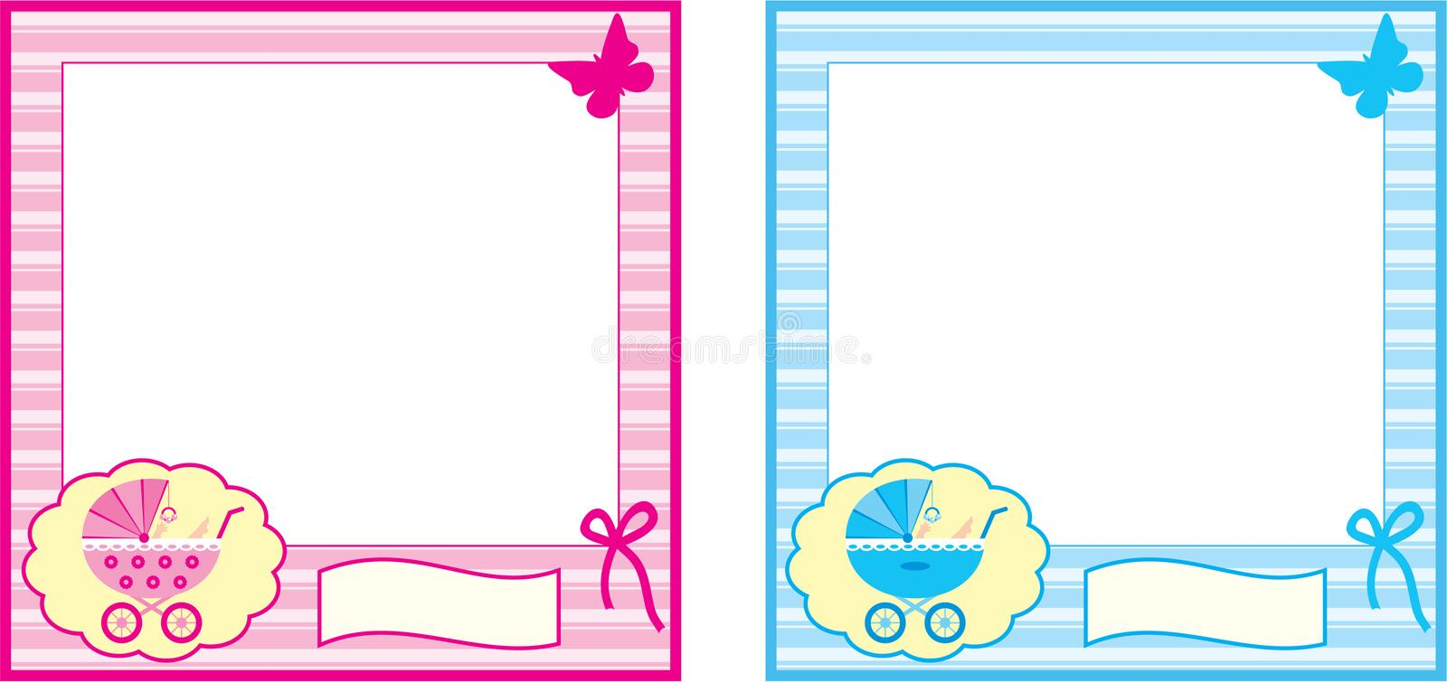 Baby photo frame. vector illustration