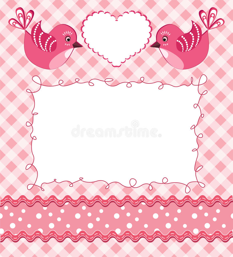 Download Baby Photo Frame With Birds. Stock Vector - Image: 18990076