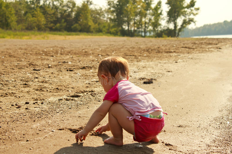 Download Baby Play Sand Beach stock photo. Image of daughter, beach - 20994286