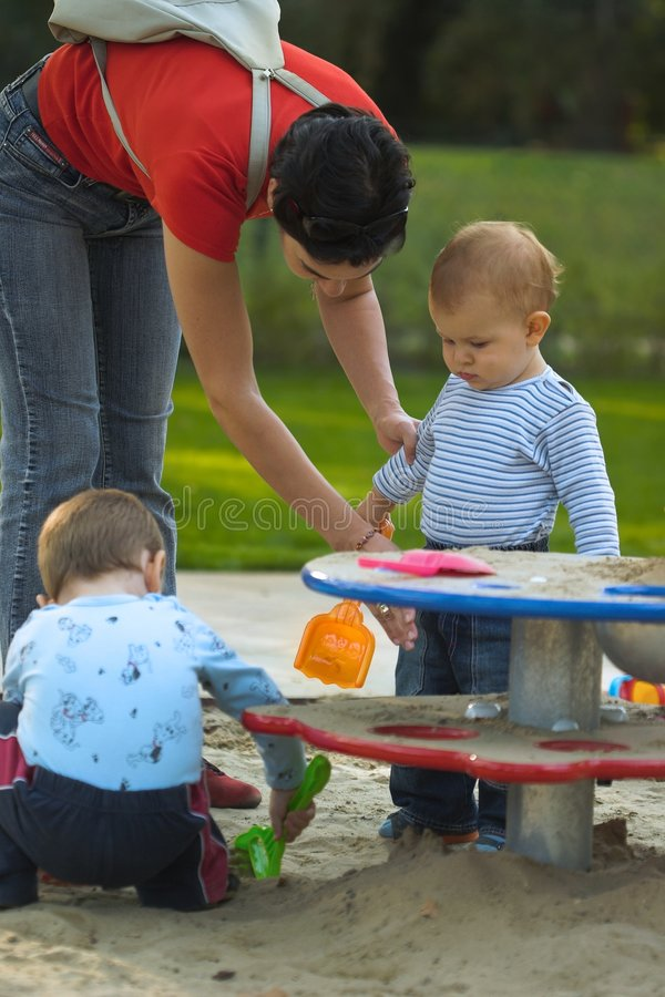 Baby on the playground royalty free stock photo