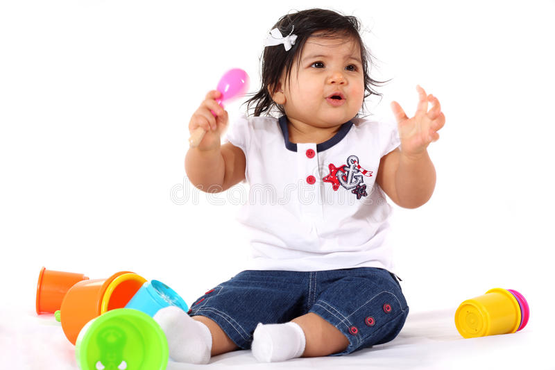 Download Baby playing stock image. Image of happy, sitting, background - 10129381
