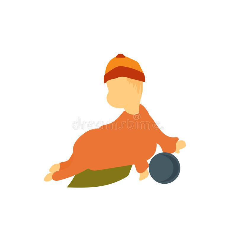 baby playing with ball vector vector sign and symbol isolated on white background, baby playing with ball vector logo concept royalty free illustration