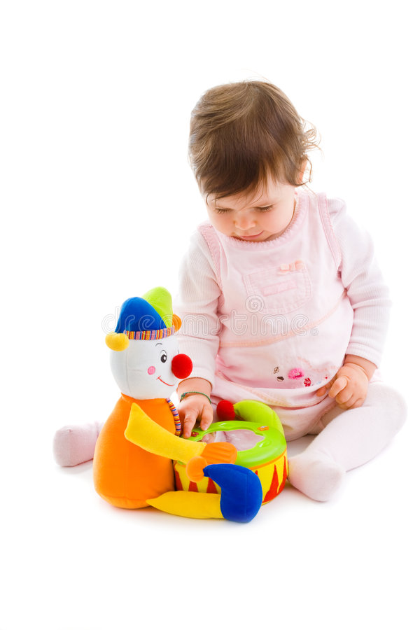 Baby playing cutout royalty free stock photos