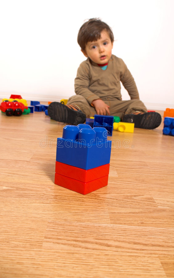 Download Baby Playing In Empty Room Royalty Free Stock Photography - Image: 2251747