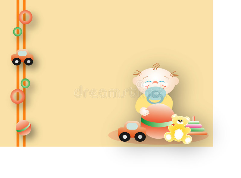 Baby playing with its favourite toys royalty free stock image