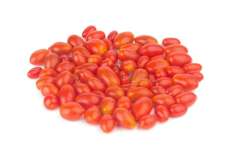 baby plum tomatoes. cherry tomatoes. closeup. color red. pile. i royalty free stock photography