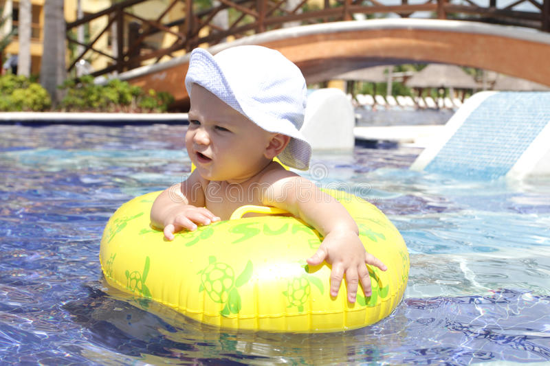 Download Baby in Pool stock photo. Image of island, getaway, carribbean - 16334760