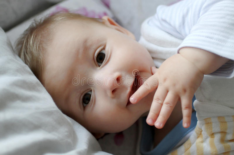 Baby portrait stock images