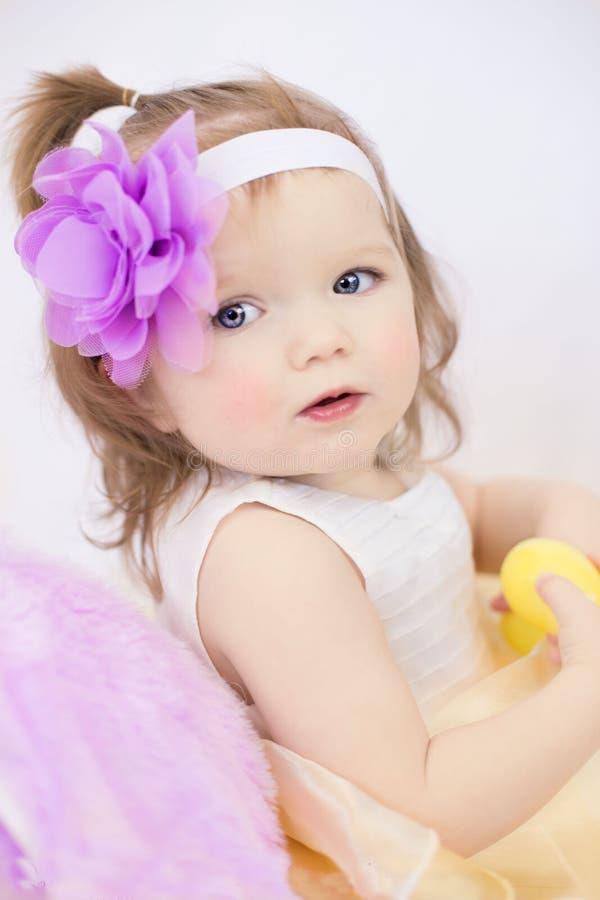 Baby Portrait Girl Flower royalty free stock photo