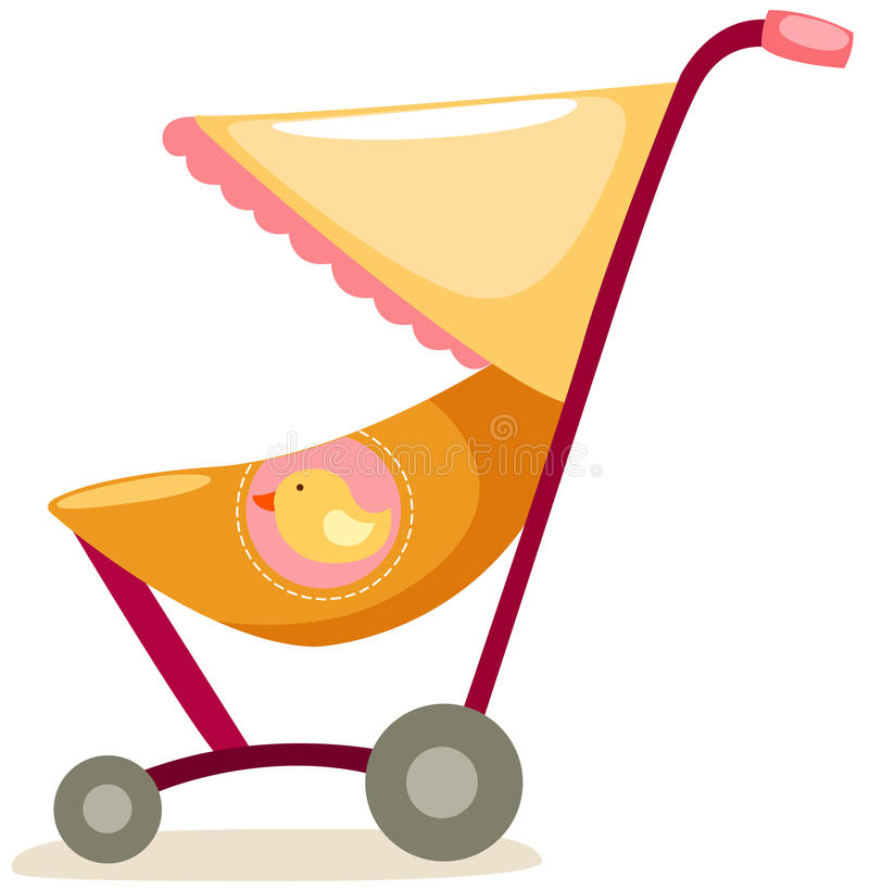 Download Baby pram stock vector. Image of infant, illustration - 16820723