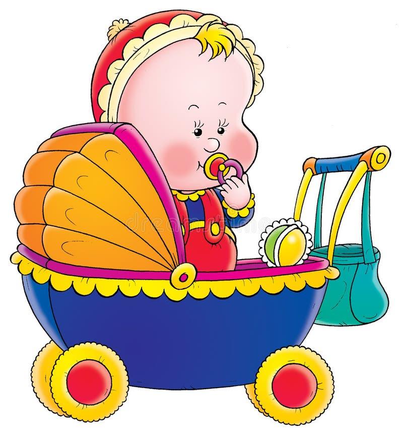 Выходные, открытка ребенка в коляске