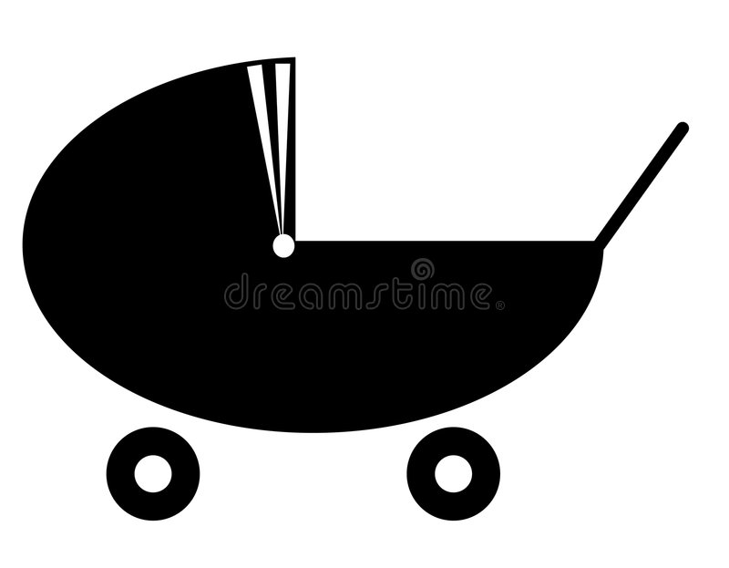 Baby pram or stroller stock illustration