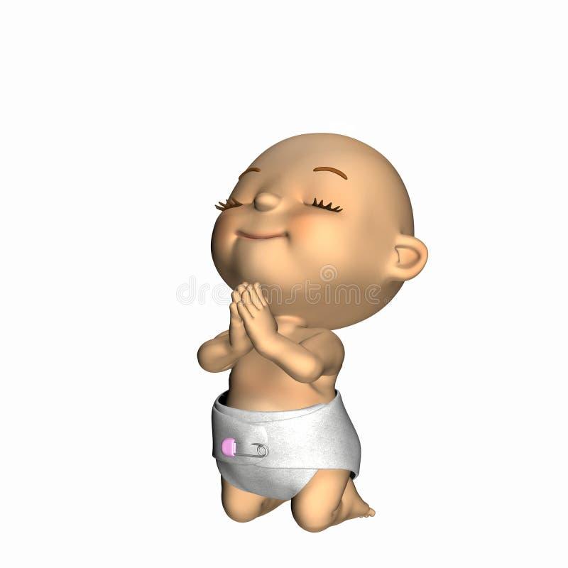 Baby - Praying 2 royalty free illustration