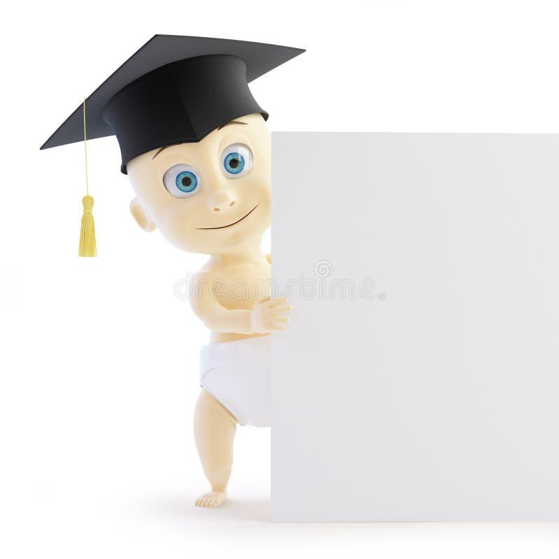 Baby Preschool Graduation Cap Form Royalty Free Stock Image
