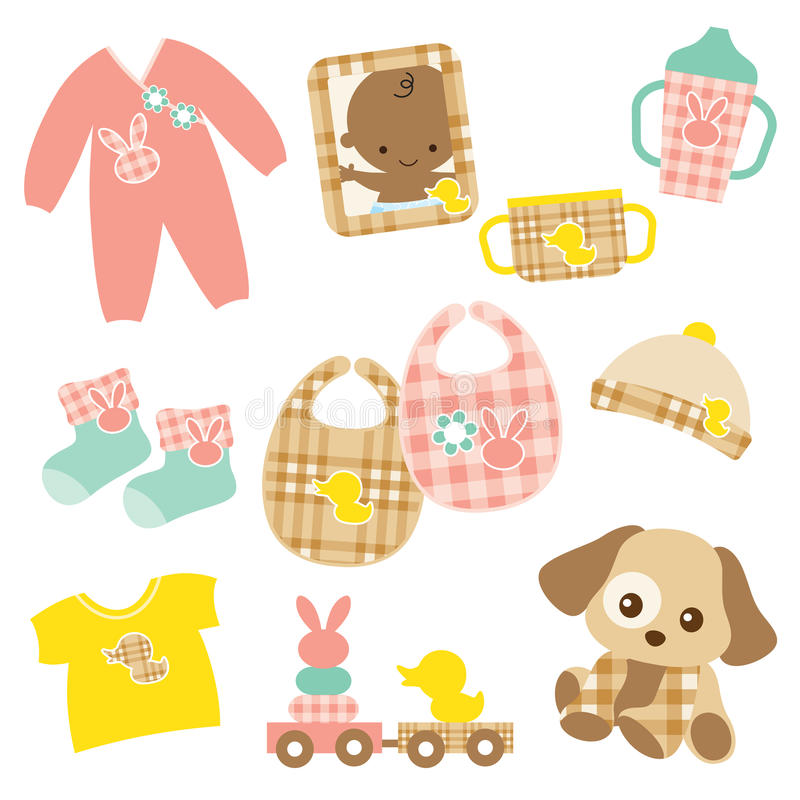 Download Baby Product Set stock vector. Image of brown, rabbit - 13895842