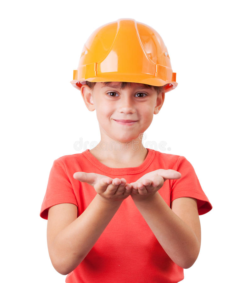 Download Baby in protective helmet stock photo. Image of laborer - 27446740