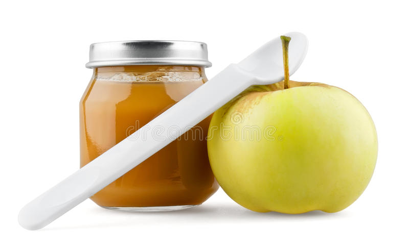 Download Baby Puree With Apple Royalty Free Stock Image - Image: 24337436