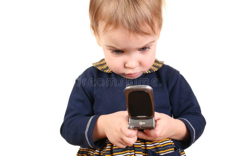 Download Baby push phone stock photo. Image of amusing, childhood - 2096564