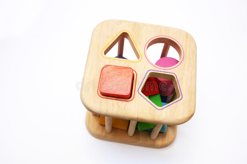 Baby puzzle shape block toy royalty free stock photos