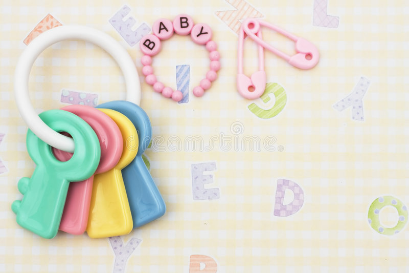 Baby Rattle stock photos