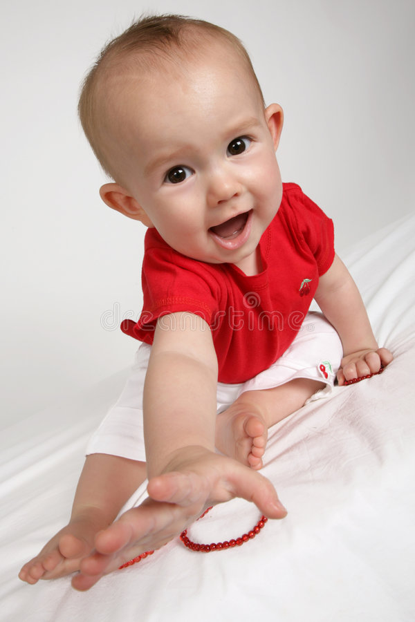 Baby Reach royalty free stock image