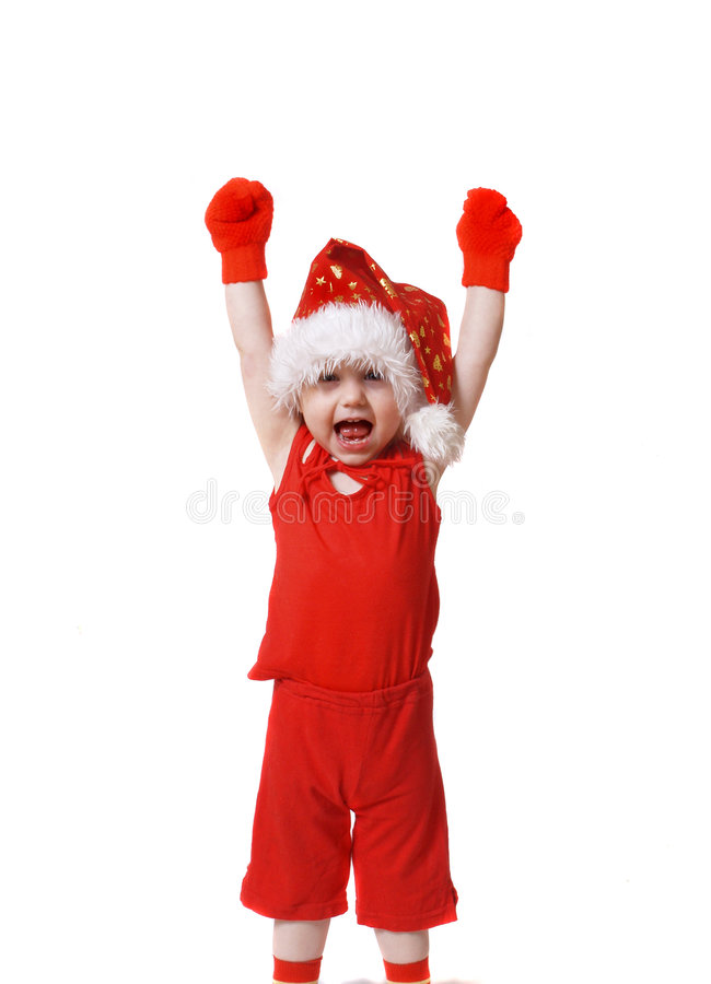 Baby in red royalty free stock photos