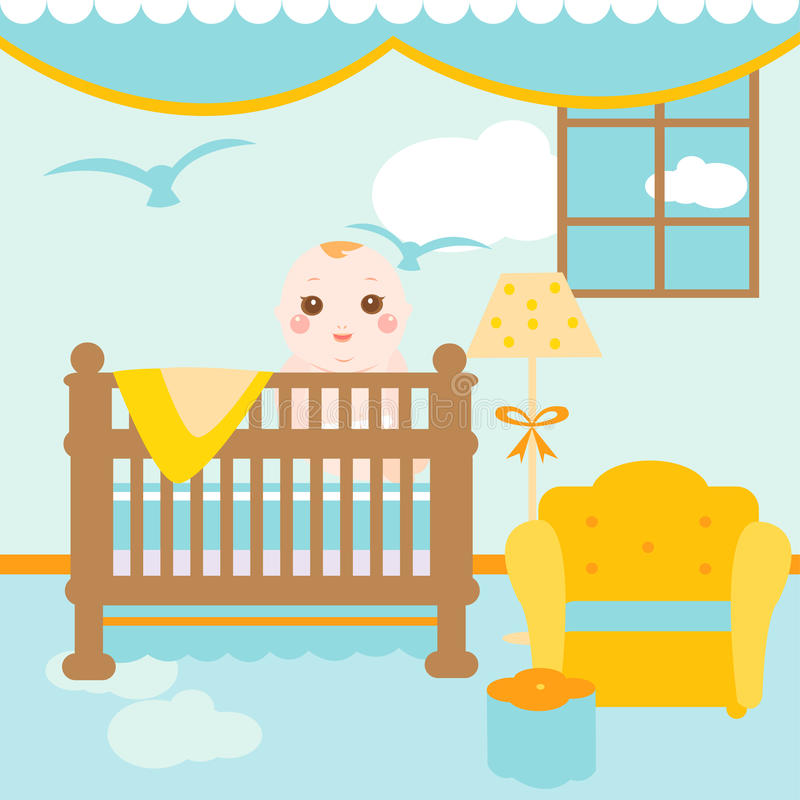Baby relaxing room royalty free illustration