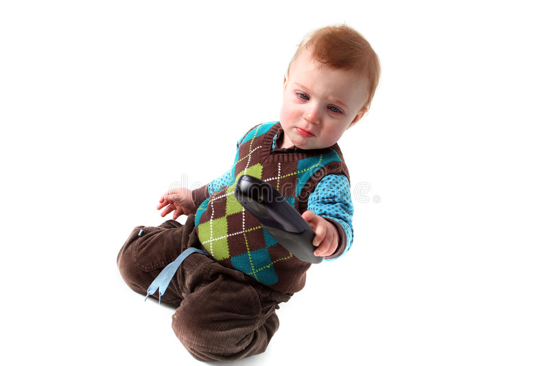 Download Baby remote control stock photo. Image of isolated, playing - 2161560