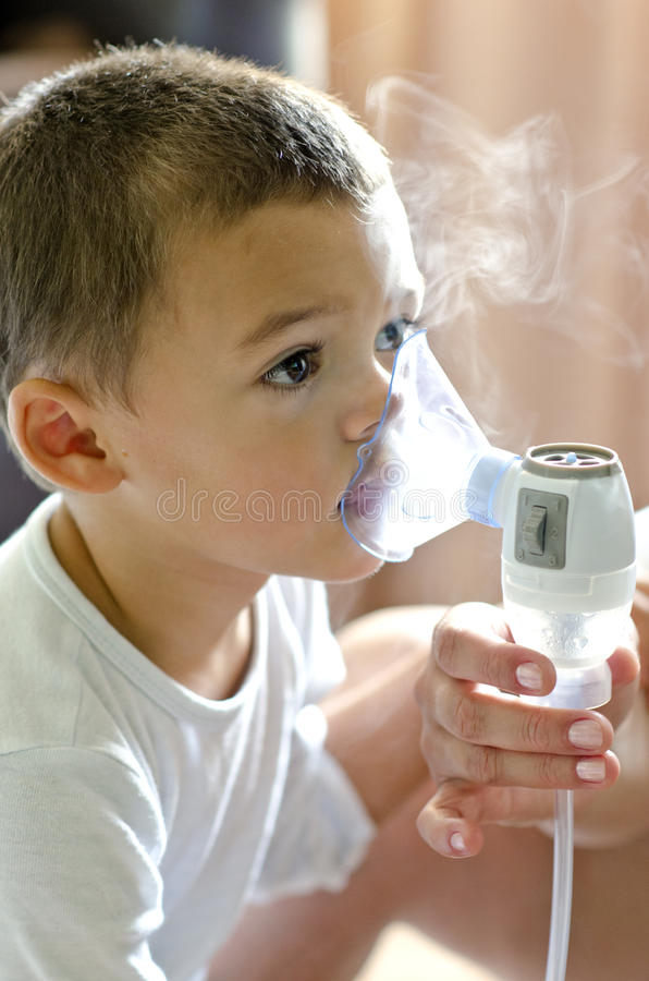 Baby respiratory therapy royalty free stock images