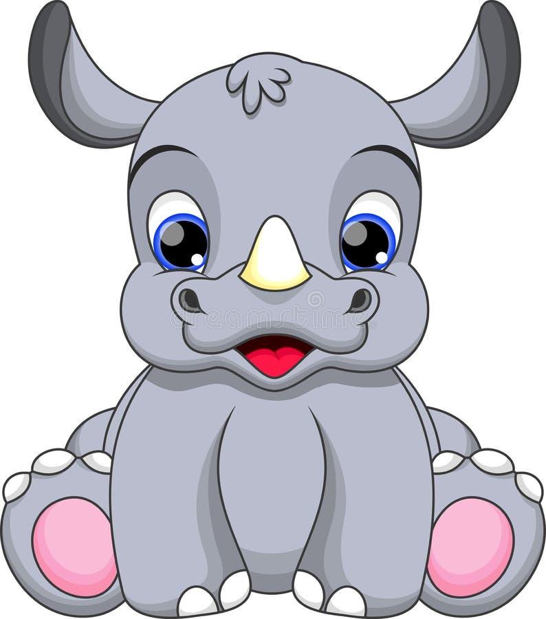 Free Baby Rhino Cartoon Stock Photography - 36187852