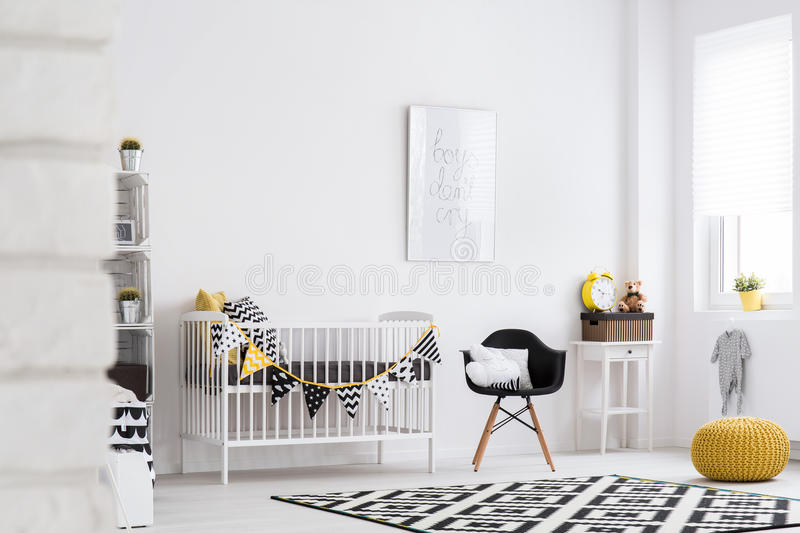 Baby room full of warmth and style stock images