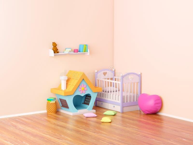 Baby room ginger house vector illustration