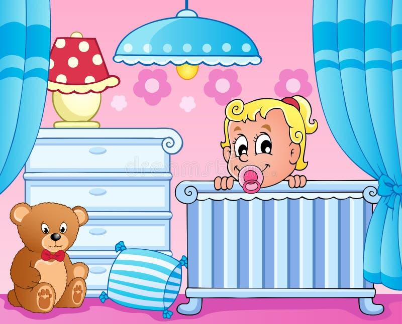 Baby room theme image 1. Vector illustration stock illustration