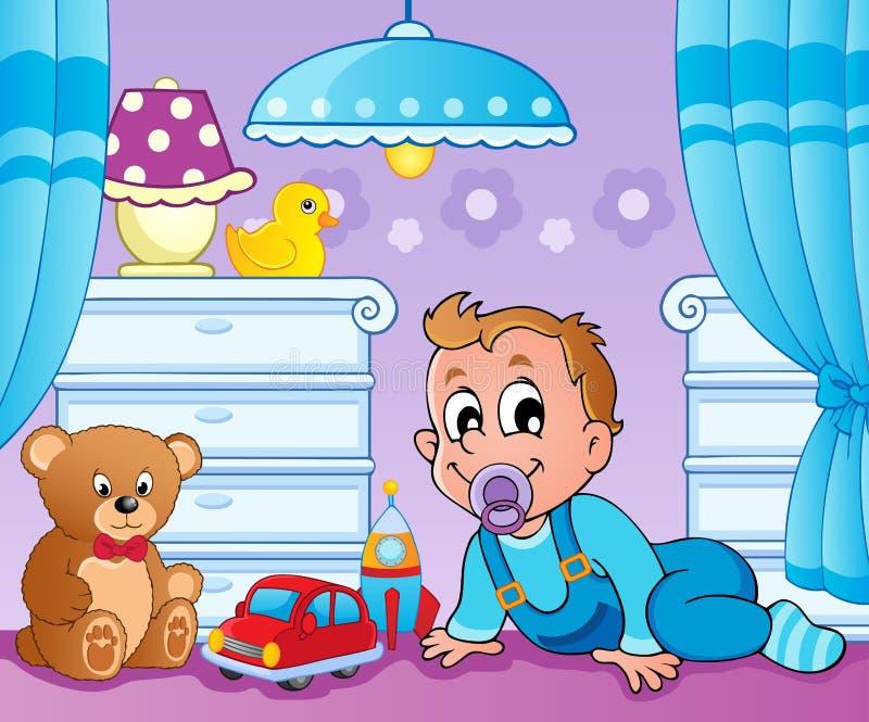 Baby room theme image 2. Vector illustration royalty free illustration