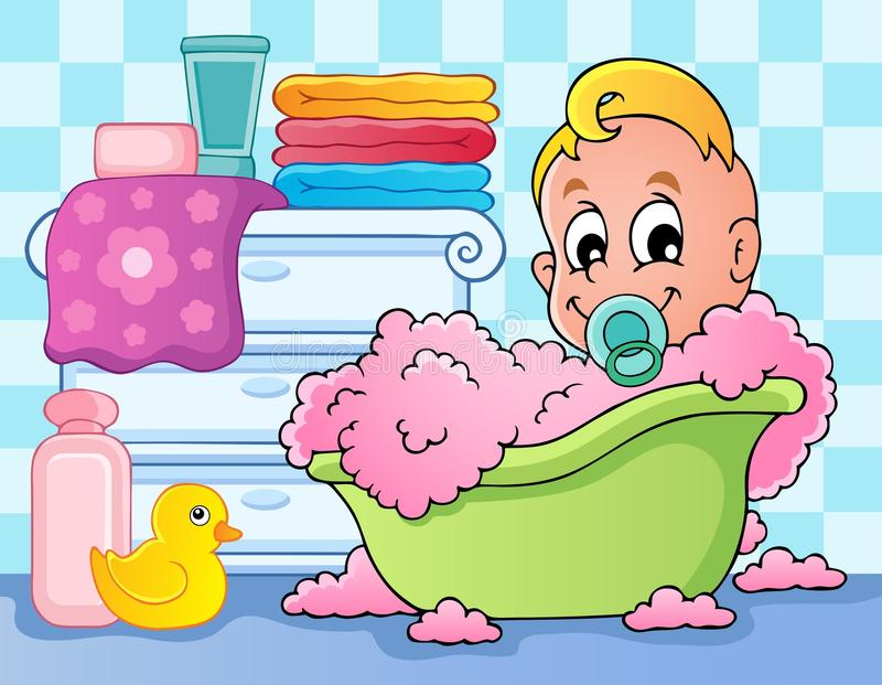 Baby room theme image 4. Vector illustration stock illustration