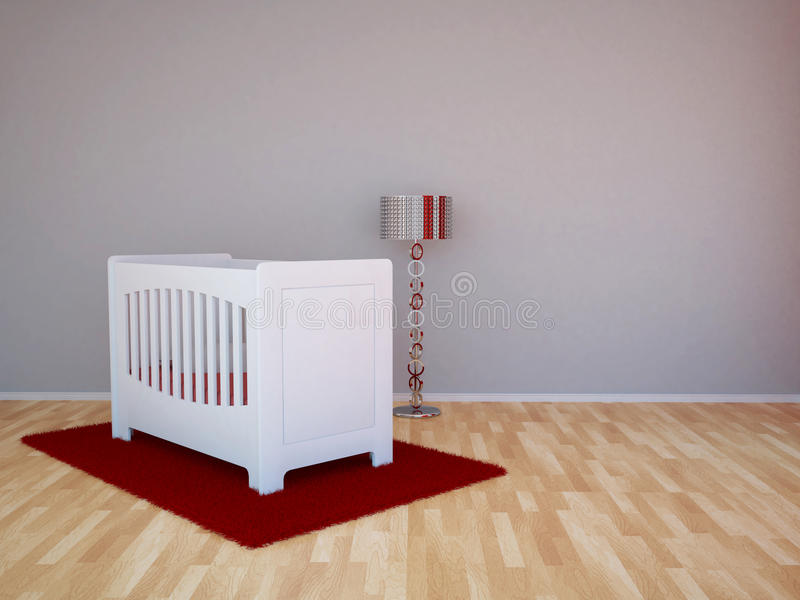 Baby room. To decorate with stickers royalty free illustration