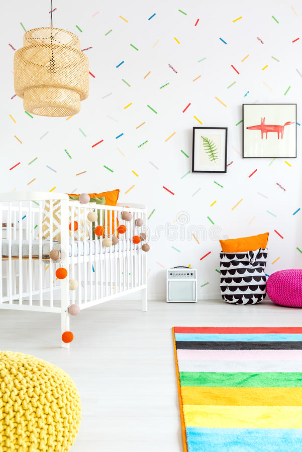 Download Baby Room With Wall Decor Stock Image. Image Of Cotton   83550775