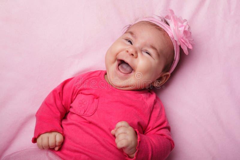 Baby in roze tutu royalty-vrije stock afbeelding