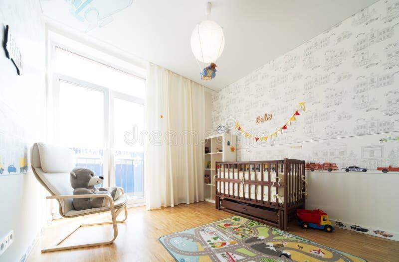 Baby's bedroom stock photo