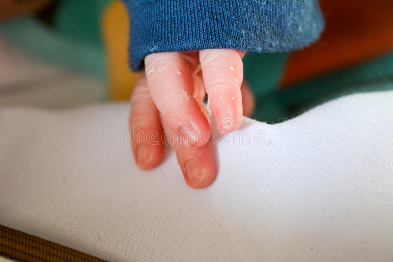 Baby s fingers. Recently or just born baby's fingers royalty free stock photo