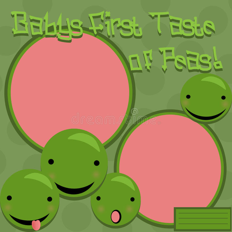 Download Baby's First Peas stock illustration. Image of circle - 23490977