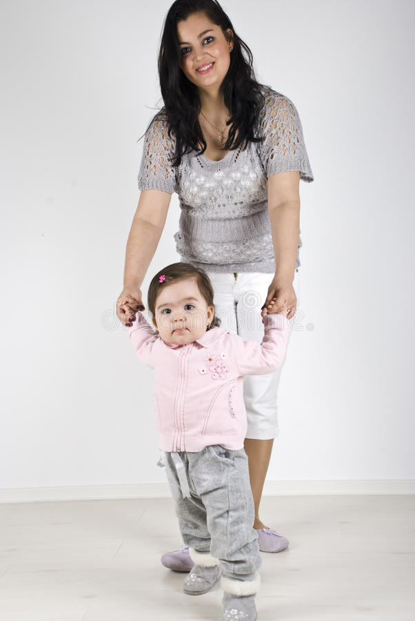 Baby S First Steps Stock Photography