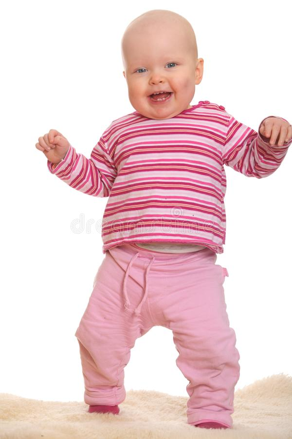 Baby S First Steps Royalty Free Stock Photos