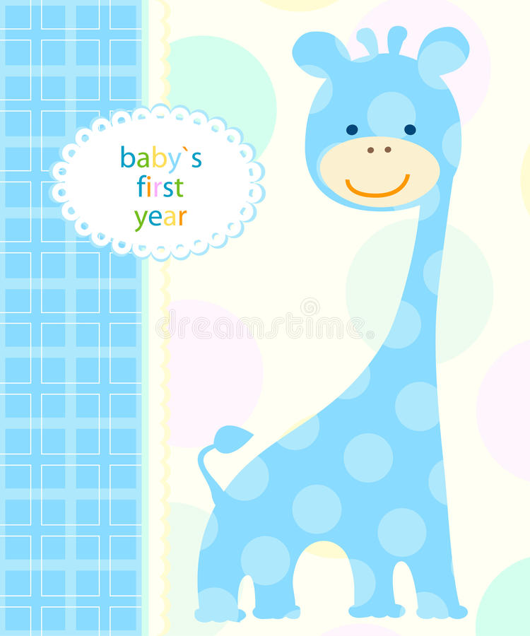 Download Baby`s first year stock vector. Image of card, nice, happy - 28699349