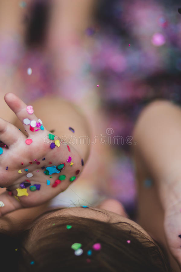 Baby's Hand With Colored Paper Free Public Domain Cc0 Image