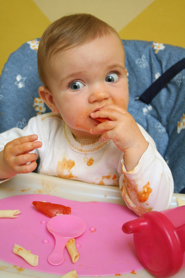 Baby's lunch. royalty free stock image