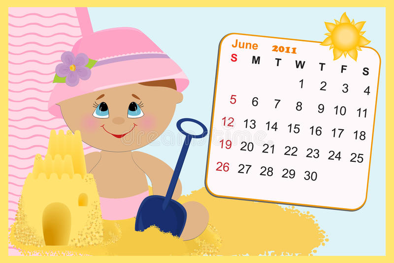 Download Baby's Monthly Calendar For 2011 Stock Vector - Image: 15257928