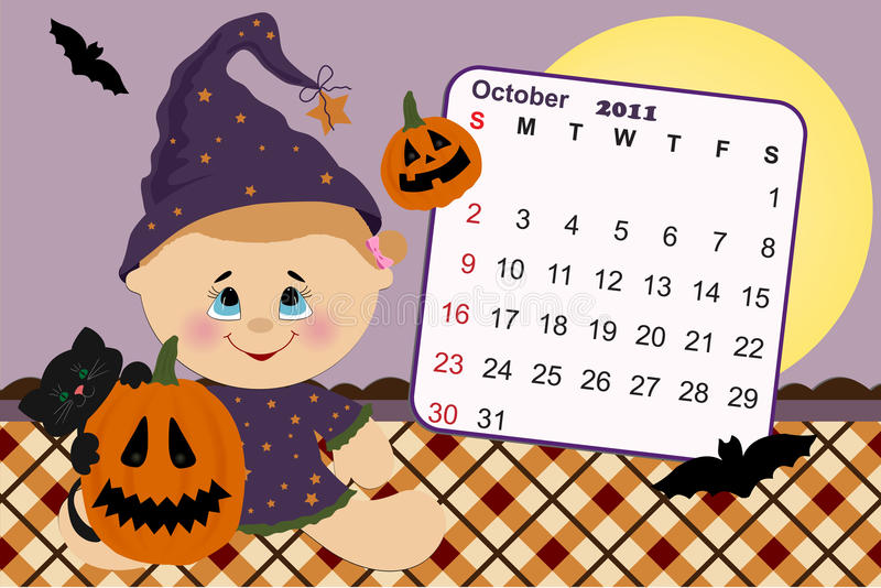 Baby S Monthly Calendar For 2011 Stock Images